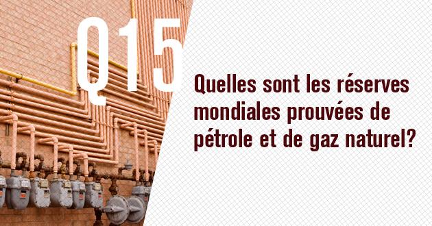 Quelles sont les reserves prouvees de petrole et de gaz naturel?