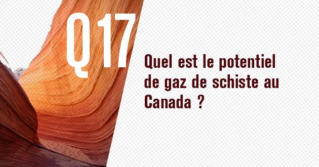 Quel est le potentiel du gaz de schiste au Canada?