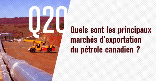 Quels sont les principaux marches d'exportation du petrole canadien?