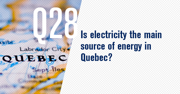 Is electricity the main source of energy in Quebec?