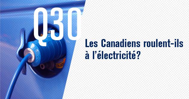 Les Canadiens roulent-ils à l'électricité?