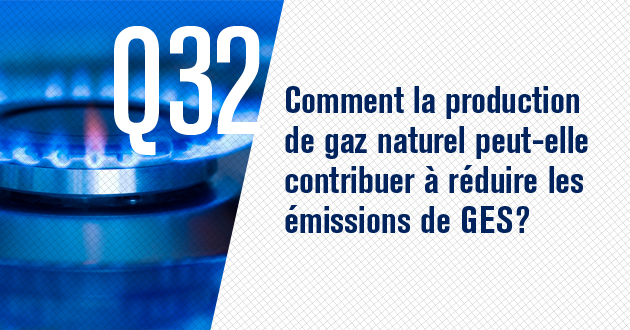 Comment la production de gaz naturel peut-elle contribuer a reduire les emissions de GES?