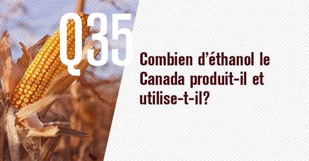 Combien d'ethanol le Canada produit-il et utilise-t-il?