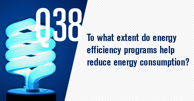 To what extent do energy efficiency programs help reduce energy consumption?