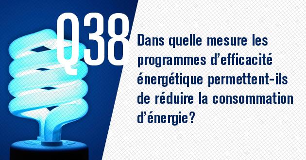 Dans quelle mesure les programmes d'efficacite energetique permettent-ils de reduire la consommation d'energie?