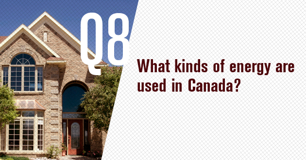 What kinds of energy are used in Canada?