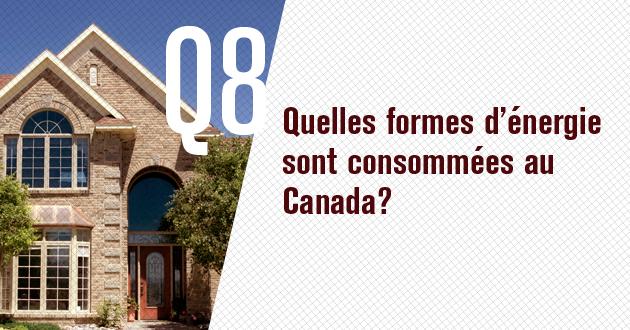 Quelles sont les formes d'energie consommees au Canada?