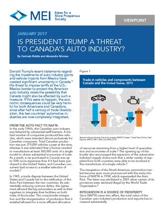Viewpoint – Is President Trump a Threat to Canada's Auto Industry?