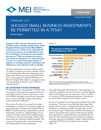 Viewpoint – Should Small Business Investments Be Permitted in a TFSA?