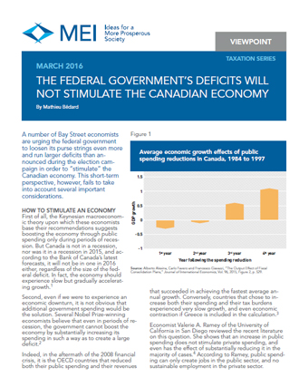 Viewpoint – The Federal Government's Deficits Will Not Stimulate the Canadian Economy