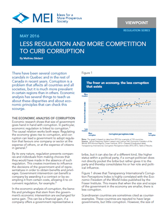 Viewpoint – Less Regulation and More Competition to Curb Corruption