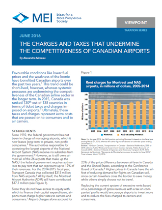 Viewpoint – The Charges and Taxes That Undermine the Competitiveness of Canadian Airports