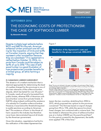 Viewpoint – The Economic Costs of Protectionism: The Case of Softwood Lumber