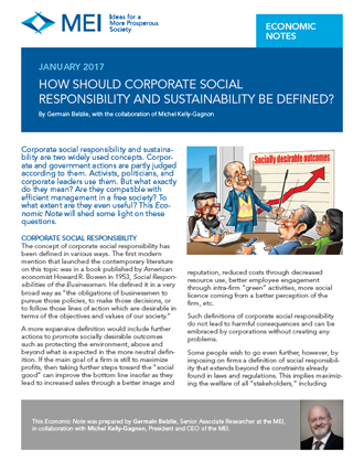 How Should Corporate Social Responsibility and Sustainability Be Defined?