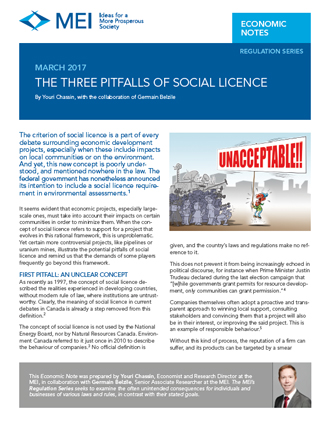 The Three Pitfalls of Social Licence