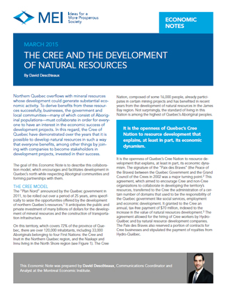 The Cree and the Development of Natural Resources