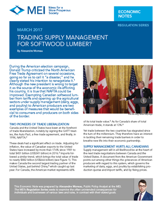 Trading Supply Management for Softwood Lumber?