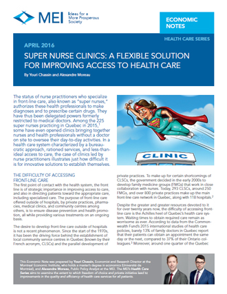 Super Nurse Clinics: A Flexible Solution for Improving Access to Health Care