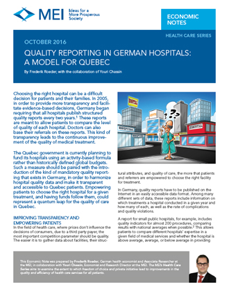 Quality Reporting in German Hospitals: A Model for Quebec