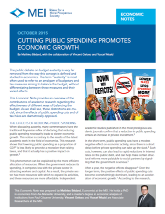 Cutting Public Spending Promotes Economic Growth
