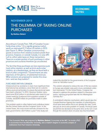 The Dilemma of Taxing Online Purchases