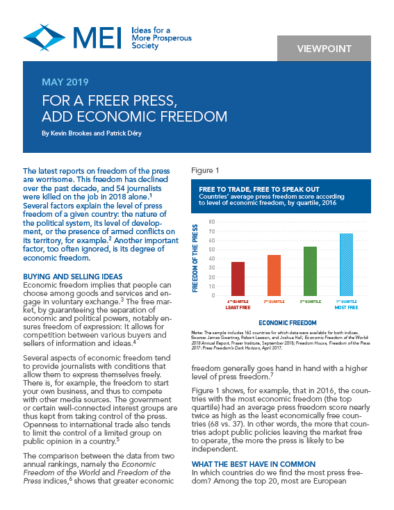 For a Freer Press, Add Economic Freedom