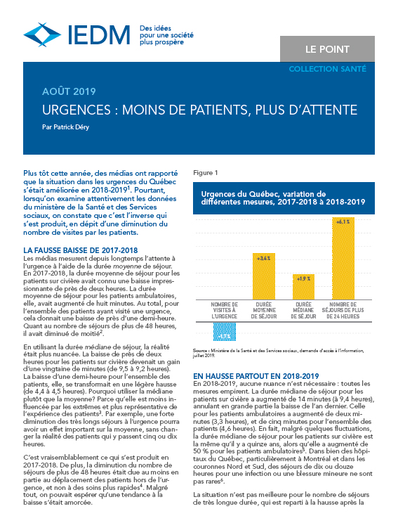 Urgences : moins de patients, plus d'attente