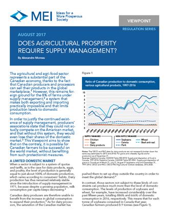 Viewpoint – Does Agricultural Prosperity Require Supply Management?