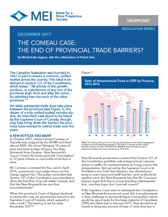 Viewpoint – The Comeau Case: The End of Provincial Trade Barriers?