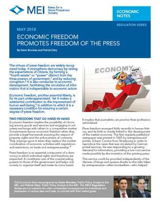 Economic Freedom Promotes Freedom of the Press