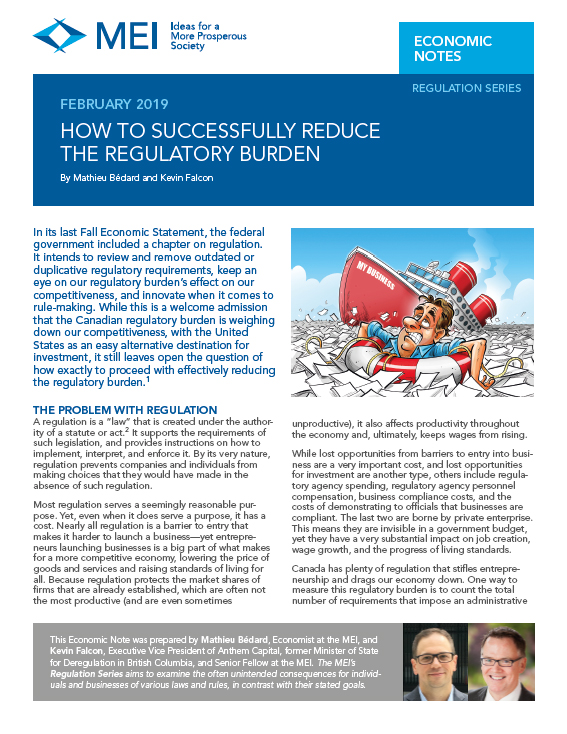 How to Successfully Reduce the Regulatory Burden