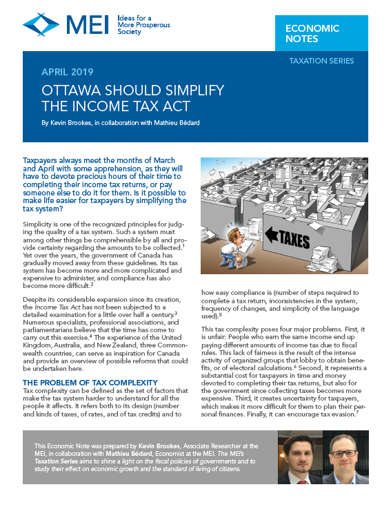 Ottawa Should Simplify the Income Tax Act | MEI