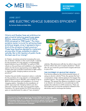 Are Electric Vehicle Subsidies Efficient?