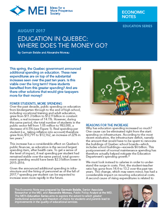 Education in Quebec: Where Does the Money Go?
