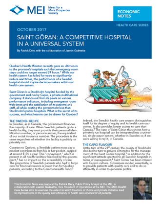 Saint Göran: A Competitive Hospital in a Universal System