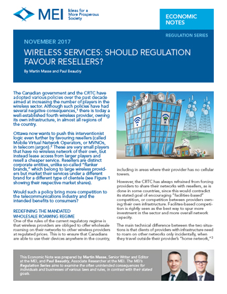 Wireless Services: Should Regulation Favour Resellers?